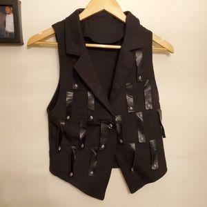 👌4for20 steampunk skull embellishment fringe vest